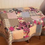 Vintage Patchwork Quilt /white quilted back