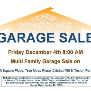 Photo of Multi-Family Garage Sale in Atascocita Forest