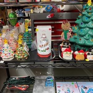 Photo of Christmas decorations & gifts yard sale