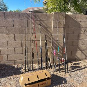 Photo of Furniture, home goods, tools, fishing poles and more! Please wear a mask