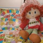 Strawberry Shortcake rag doll and game board