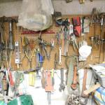 Wall Full of Hand and Work Tools
