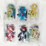 6 SET OF SONIC TEENAGE MUTANT NINJA TURTLE TOYS