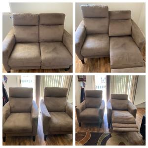 Photo of Recliners and loveseat set