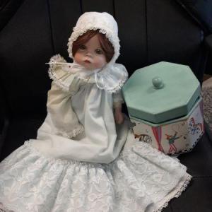 Photo of Porcelain Doll w/ Vintage Box