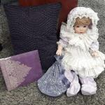 Porcelain Doll w/ misc. Items