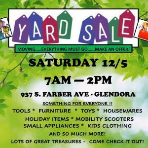 Photo of HUGE Yard Sale/Moving Sale