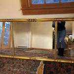 Large Beautiful Mid Century Modern Gold Gilted Mirror