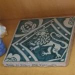 Italian made Lion Tile