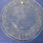 "Lot # 223 Vintage Princess House Crystal Fantasia Holiday 13"" Platter"