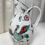 Lot# 224  S Vintage Hand Painted Pitcher Artist Signed