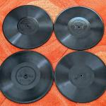 Lot #219 4 Antique Edison Diamond discs  box 2 of 3 1914, 1917, 1918, 1921 78rpm