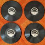 "Lot# 215 4 Antique Edison Diamond Disc 78rpm records-box 1 of 3 10"" 1914, 1919,"