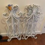 Metal scrollwork decor