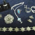 LOT 341  MOSTLY STERLING JEWELRY