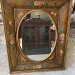 Large hand painted vintage mirror