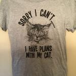 #L$287 - Plans with Cat t-shirt - size small