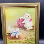 """""""Eric's Kitten's"""" Framed Cat Painting YD#011-1120-00266"""