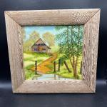 Small Framed Painting of Cabin