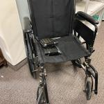 "Previously Owned 19"" Collapsible Wheelchair with Removable Foot Rests"