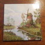 "Vintage Windmill Tile (approx. 12"" Square)"