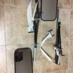 Towing/trailer retractable mirrors