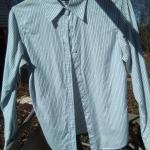 Ladies Small Blue Striped shirt