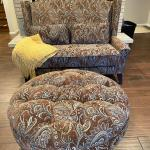 Loveseat  & Ottoman By Pier 1 Imports *Excellent Condition* (Paisley Brown)
