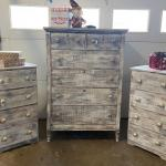 Vintage Farmhouse Chic Dresser Set of 3