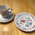 Farberware White Christmas China , in great condition.