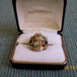 Women's 14kt gold Multicolored Jade Ring