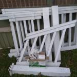 Vinyl porch railing