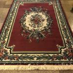 Red/Burgundy Floral Design Area Rug