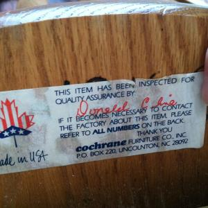 Photo of Solid Oak Wood Swivel Bar Chair made in USA!