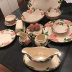 12 place settings Desert Rose dinnerware