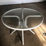 White Outdoor Metal Dining Table