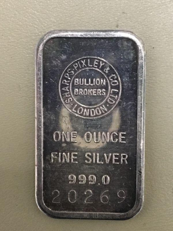 Photo 1 of Item (7) 1 oz. Silver Bar