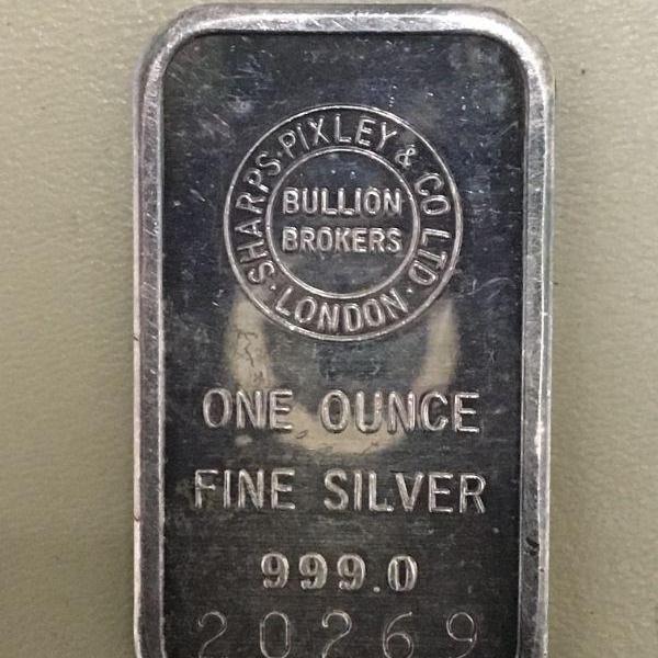 Photo of Item (7) 1 oz. Silver Bar