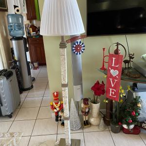 Photo of Floor Lamp ,Trellis, Corningware, Speakers, End table, Totem Pole