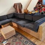 San Francisco wicker works sofa! Needs a new home,