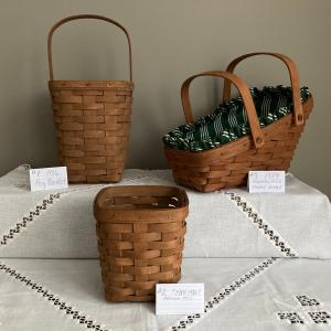 Photo of 3 - LONGABERGER  BASKETS--Great to start your collection