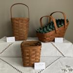 3 - LONGABERGER  BASKETS--Great to start your collection