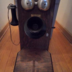 Photo of ANTIQUE WESTERN ELECTRIC CRANK TELEPHONE