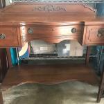 Vintage wooden desk.