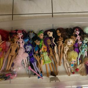 Photo of Barbie Dolls and Moster Hight Doll and Furinture, Castle