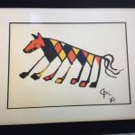 Full set (6) of Braniff airline lithograph prints by Alexander Calder!