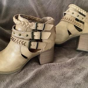 Photo of Leather Wedge heels size 8
