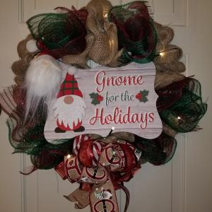 Photo of Lighted  Holiday Wreath