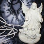 Porcelain Bisk Guardian Angel Night Light Lamp