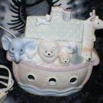 Porcelain Noah's Ark Night Light Lamp